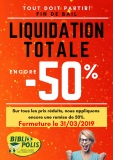 Liquidation totale Bibliopolis Lemonnier