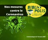 Nos mesures contre le Covid-19 «Coronavirus»