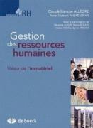 Gestion des ressources humaines – Valeur de l'immatériel