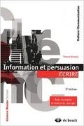 Information et persuasion : écrire