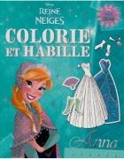 La Reine des Neiges, colorie et habille Anna