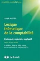 Lexique thématique de la comptabilité – Dictionnaire spécialisé explicatif